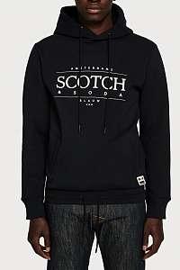Scotch & Soda čierna pánska mikina Logo Art Hoodie - XXL