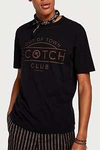 Scotch & Soda čierne tričko s logom - S