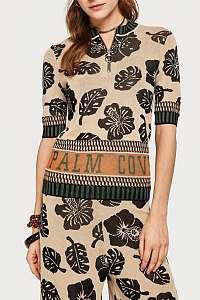 Scotch & Soda farebný dámsky sveter s tropickými motívmi