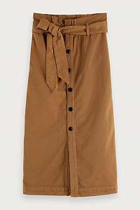 Scotch & Soda hnedá sukňa Button - L