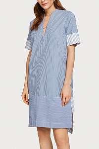 Scotch & Soda modré letné košeľové šaty s prúžkami - XL