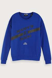 Scotch & Soda modrá mikina Artwork Ams. Blauw - XL