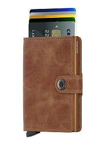 Secrid hnedé kožená peňaženka  Mini Wallet Vintage Cognac Rust