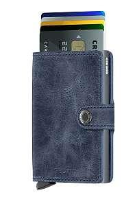 Secrid špeciálna kožená peňaženka Mini Wallet Vintage Blue