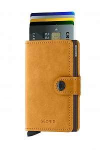 Secrid špeciálna kožená peňaženka Mini Wallet Vintage Ochre