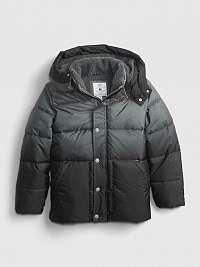 Šedá chlapčenskú bunda zimná prešívaná GAP