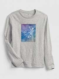 Šedé chlapčenskú tričko lenticular t-shirttričko lenticular t-shirt GAP