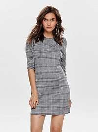 Šedé kockované šaty ONLY Brilliant