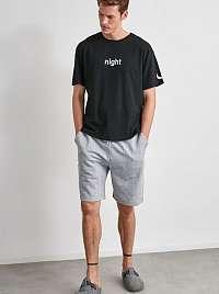 Šedo-čierne pánske pyžamo Trendyol