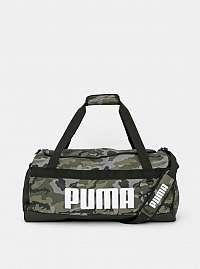 Šedo-zelená maskáčová cestovná taška Puma