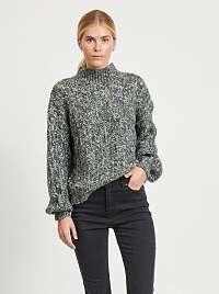 Šedý žíhaný sveter .OBJECT