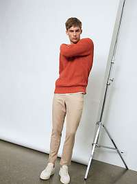 Selected Homme oranžové pánsky sveter
