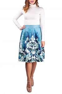 Simpo dámska sukňa Blue Flowers - M/L
