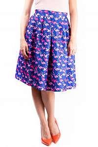 Simpo farebná sukňa po kolená Blue Flamingo - M/L