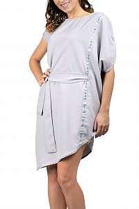 Simpo sivé asymetrické šaty Storm