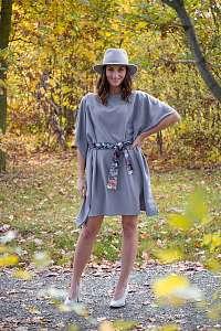 Simpo sivé šaty Waterfall Grey