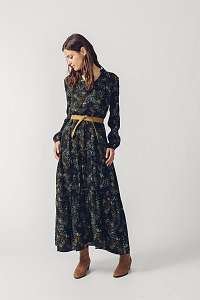 SKFK čierne maxi šaty Letizia