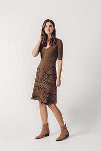 SKFK hnedá svetrová sukňa Arane Long