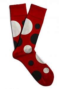 Soxit červené unisex ponožky Space Red