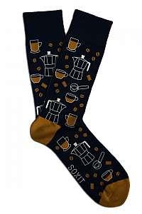 Soxit modré unisex ponožky Kávička
