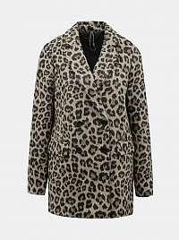 Svetlo hnedý kabát s leopardím vzorom Dorothy Perkins