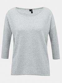 Svetlo šedý ľahký sveter VERO MODA Malena