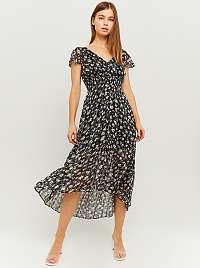 Tally Weijl čierne midi kvetované šaty