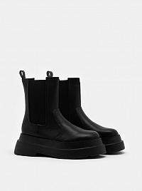 Tally Weijl čierne na platforme topánky