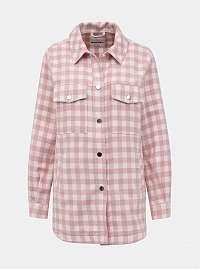 Tally Weijl ružová kockovaná košeľa