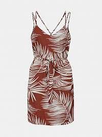Tehlové vzorované šaty ONLY Augustina