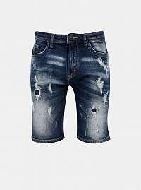 Tmavomodré pánske džínsové kraťasy Alcott