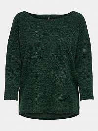 Tmavozelený voľný sveter ONLY Alba