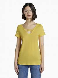 Tom Tailor Denim žlté tričko