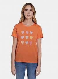 Tom Tailor oranžové tričko