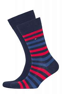 Tommy Hilfiger 2 pack ponožiek TH Men Duo Stripe Sock 2P --46