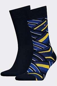 Tommy Hilfiger 2 pack ponožiek TH Men Sock 2P Color Block --46