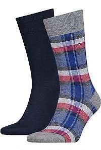 Tommy Hilfiger 2 pack ponožiek TH Men Sock 2P Stripe Pattern --46