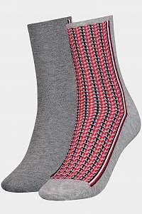 Tommy Hilfiger 2 pack ponožiek TH Women Sock 2P Monogram --42