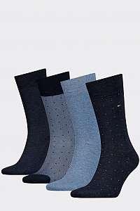 Tommy Hilfiger 4 pack pánske ponožiek TH Men Mixed Dots Giftbox 4P --46