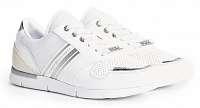 Tommy Hilfiger biele tenisky Metallic Lightwight Sneaker White/Silver