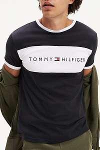 Tommy Hilfiger čierne pánske tričko CN SS Tee Logo Flag - xl