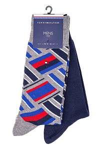 Tommy Hilfiger farebné 2 pack ponožiek TH Men Sock 2P Color Block --46