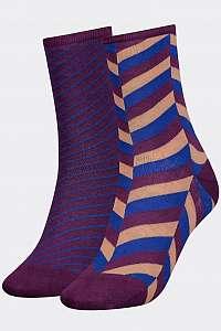Tommy Hilfiger farebné 2 pack ponožky TH Women Sock 2P Herringbone --42