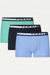 Tommy Hilfiger farebné 3 pack boxeriek Navy Blazer/Cornflower blue/Cascade