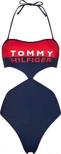 Tommy Hilfiger jednodielne plavky Cheeky Cut Out One-Piece