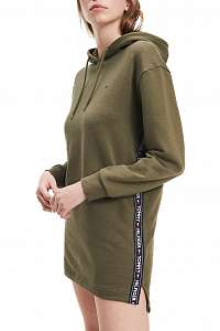 Tommy Hilfiger khaki mikinové Hoody Dress LS