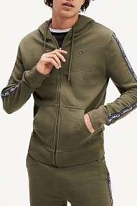 Tommy Hilfiger khaki pánska mikina L/S Hoodie s kapucňou - XL