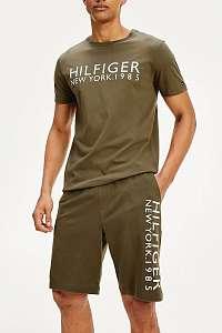 Tommy Hilfiger khaki pánske tričko CN SS TEE Grape Leaf
