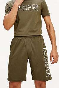 Tommy Hilfiger khaki teplákové kraťasy Short Logo