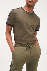Tommy Hilfiger khaki tričko CN SS TEE - XL